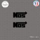 2 Stickers NOS Sticks-em.fr Couleurs au choix