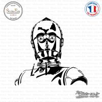 Sticker C-3po Sticks-em.fr Couleurs au choix