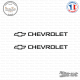 2 Stickers Chevrolet Logo Sticks-em.fr Couleurs au choix