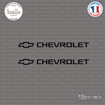 2 Stickers Chevrolet Logo