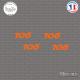 4 stickers Peugeot 106 sticks-em.fr