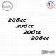 4 stickers Peugeot 206 cc