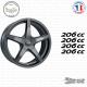 4 stickers Peugeot 206 cc Sticks-em.fr Couleurs au choix