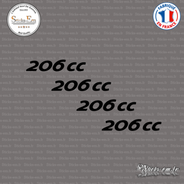 4 stickers Peugeot 206 cc