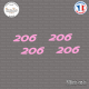 4 stickers Peugeot 206 Sticks-em.fr Couleurs au choix