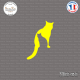 Sticker Silhouettes de chats sticks-em.fr