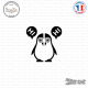 Sticker Pingouin moitié