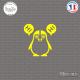 Sticker Pingouin moitié Sticks-em.fr Couleurs au choix