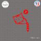 Sticker Chaton Sticks-em.fr Couleurs au choix