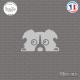 Sticker Chiot Sticks-em.fr Couleurs au choix
