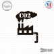 Sticker Usine CO2 Sticks-em.fr Couleurs au choix
