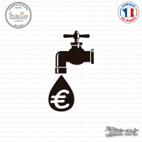 Sticker Robinet Économie Sticks-em.fr Couleurs au choix