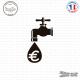Sticker Robinet Économie