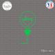 Sticker Ampoule Sticks-em.fr Couleurs au choix