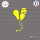 Sticker Design Ampoules Sticks-em.fr Couleurs au choix