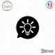 Sticker icône Ampoule