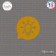 Sticker icône Ampoule Sticks-em.fr Couleurs au choix