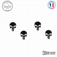 4 Stickers Punisher tête Sticks-em.fr Couleurs au choix