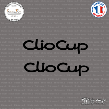 2 Stickers Renault Clio Cup