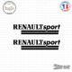 2 Stickers Renault Sport