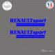 2 Stickers Renault Sport Sticks-em.fr Couleurs au choix