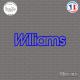 Sticker Renault Williams Sticks-em.fr Couleurs au choix