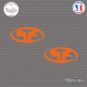 2 Stickers Rockford Fosgate 3 Sticks-em.fr Couleurs au choix