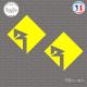 2 Stickers Rockford Fosgate Logo Sticks-em.fr Couleurs au choix
