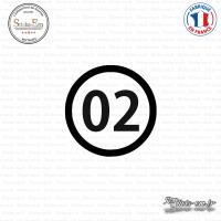 Sticker Département 02 Aisne Laon Picardie Sticks-em.fr Couleurs au choix