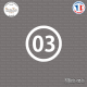 Sticker Département 03 Allier Moulins Auvergne Sticks-em.fr Couleurs au choix