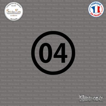 Sticker Département 04 Alpes Haute Provence digne les bains