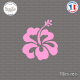 Sticker Hibiscus Sticks-em.fr Couleurs au choix