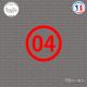 Sticker Département 04 Alpes Haute Provence digne les bains Sticks-em.fr Couleurs au choix