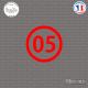 Sticker Département 05 Hautes Alpes Gap Briançon côte d'azur Sticks-em.fr Couleurs au choix