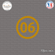 Sticker Département 06 Alpes Maritimes Nice Grasse côte d'azur Sticks-em.fr Couleurs au choix
