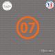 Sticker Département 07 Ardèche Privas Rhône-Alpes Sticks-em.fr Couleurs au choix