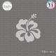 Sticker Hibiscus Sticks-em.fr Couleurs au choix
