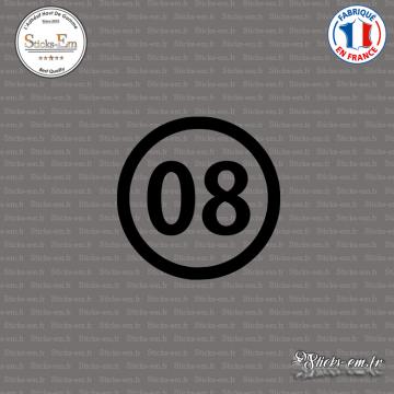 Sticker Département 08 Ardennes Charleville-Mézières