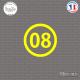 Sticker Département 08 Ardennes Charleville-Mézières Sticks-em.fr Couleurs au choix