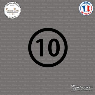 Sticker Département 10 Aube Troyes Champagne-Ardenne