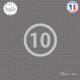 Sticker Département 10 Aube Troyes Champagne-Ardenne Sticks-em.fr Couleurs au choix