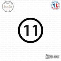 Sticker Département 11 Aude Carcassonne Languedoc-Roussillon