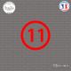 Sticker Département 11 Aude Carcassonne Languedoc-Roussillon Sticks-em.fr Couleurs au choix