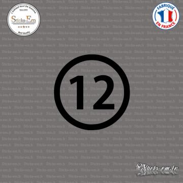 Sticker Département 12 Aveyron Rodez Midi-Pyrénées