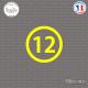 Sticker Département 12 Aveyron Rodez Midi-Pyrénées Sticks-em.fr Couleurs au choix