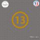 Sticker Département 13 Bouches-du-Rhône Marseille Aix Sticks-em.fr Couleurs au choix