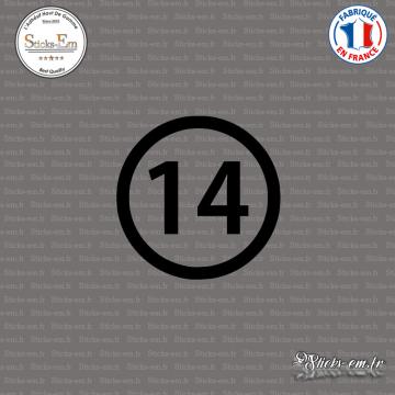 Sticker Département 14 Calvados Caen Basse-Normandie