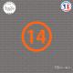 Sticker Département 14 Calvados Caen Basse-Normandie Sticks-em.fr Couleurs au choix