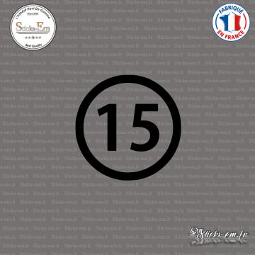 Sticker Département 15 Cantal Aurillac Auvergne Mauriac