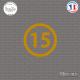 Sticker Département 15 Cantal Aurillac Auvergne Mauriac Sticks-em.fr Couleurs au choix